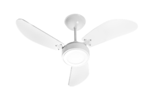 VENTILADOR DE TETO NEW LIGHT 3PAS LED BRANCO